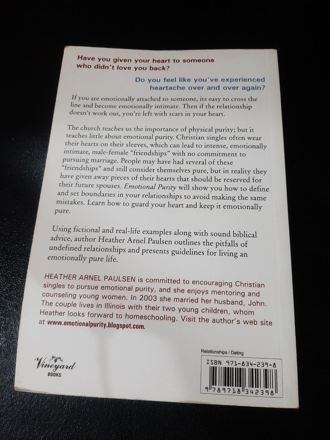 Emotional Purity: An Affair of the Heart by Heather Arnel Paulsen