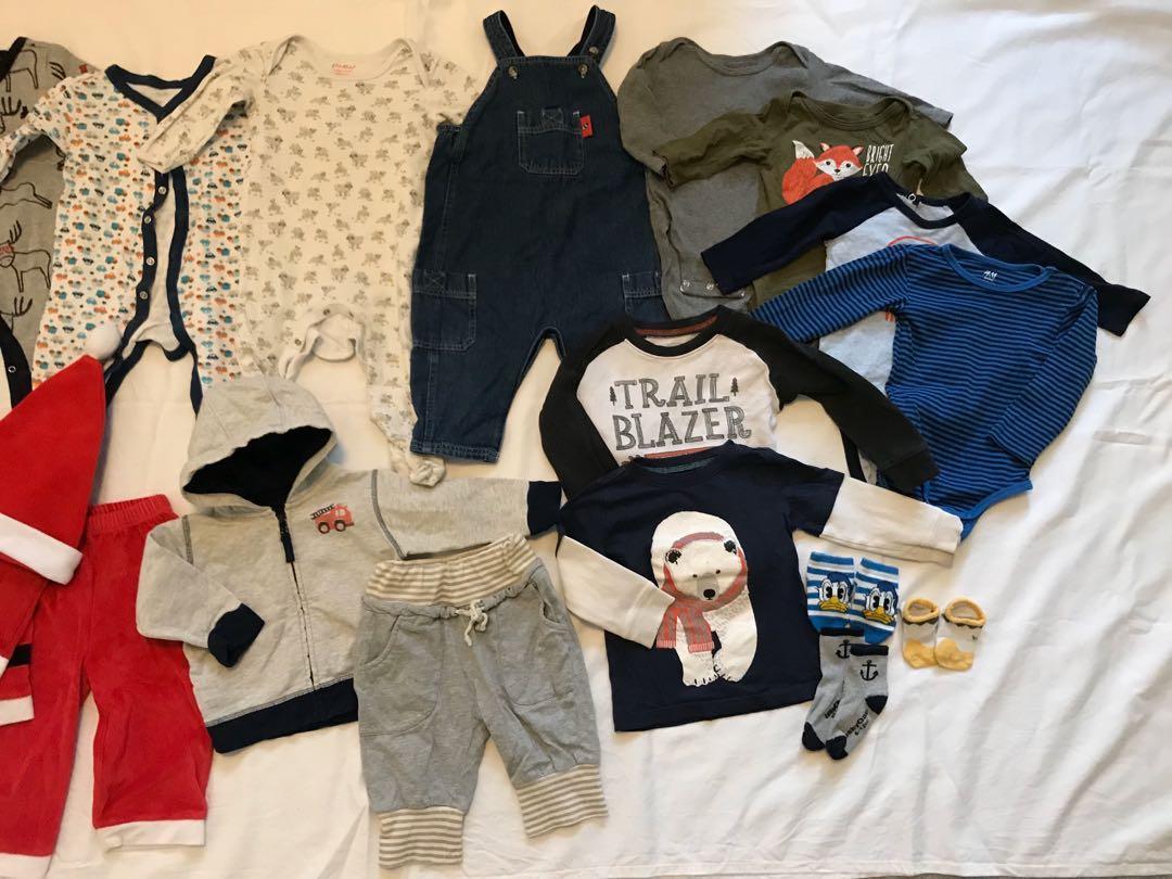 EUC baby jacket/sleeper/bodysuit/clothing lot (6-12m, 18m) (20 items in total)
