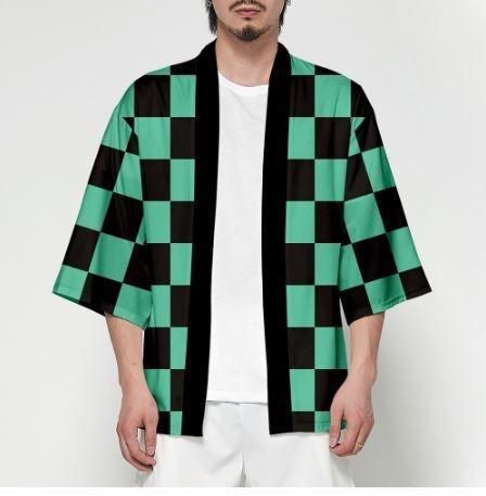 Japanese Haori jacket: Kimetsu No Yaiba design (Kamado Tanjiro)