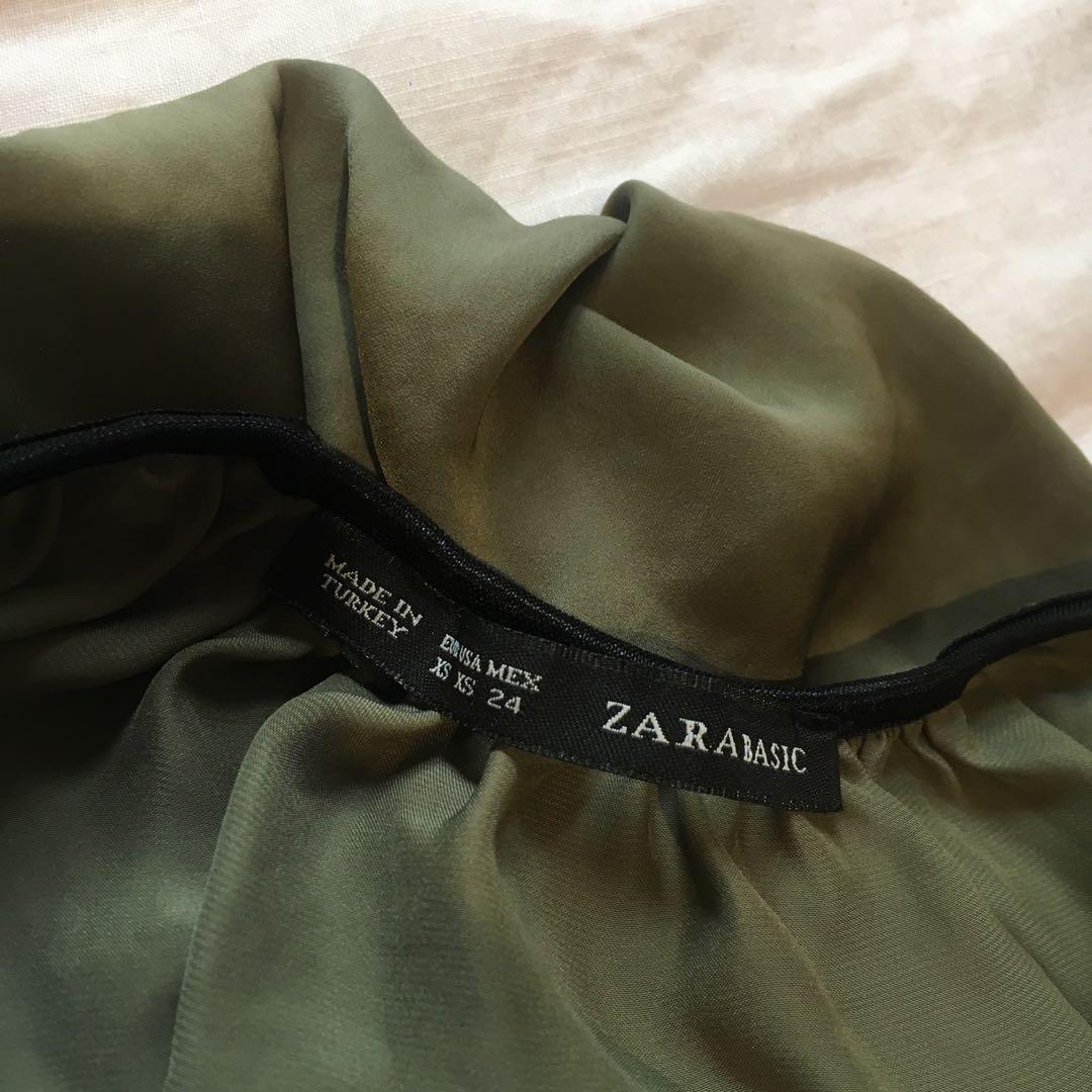 Loveliest Long Maxi Highwaisted olive green skirt | Size XS | Brand: Zara