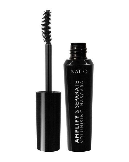 Natio Amplify & Separate Volumising Mascara - Black 13ml