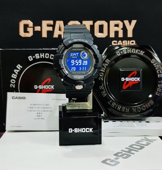 NEW🌟COUPLE💝BLUETOOTH SET : BABYG🌟GSHOCK UNISEX DIVER SPORTS WATCH  : 100% ORIGINAL AUTHENTIC CASIO BABY-G-SHOCK : GBD-800-1B + BA-110-1A (DEEP-BLACK)