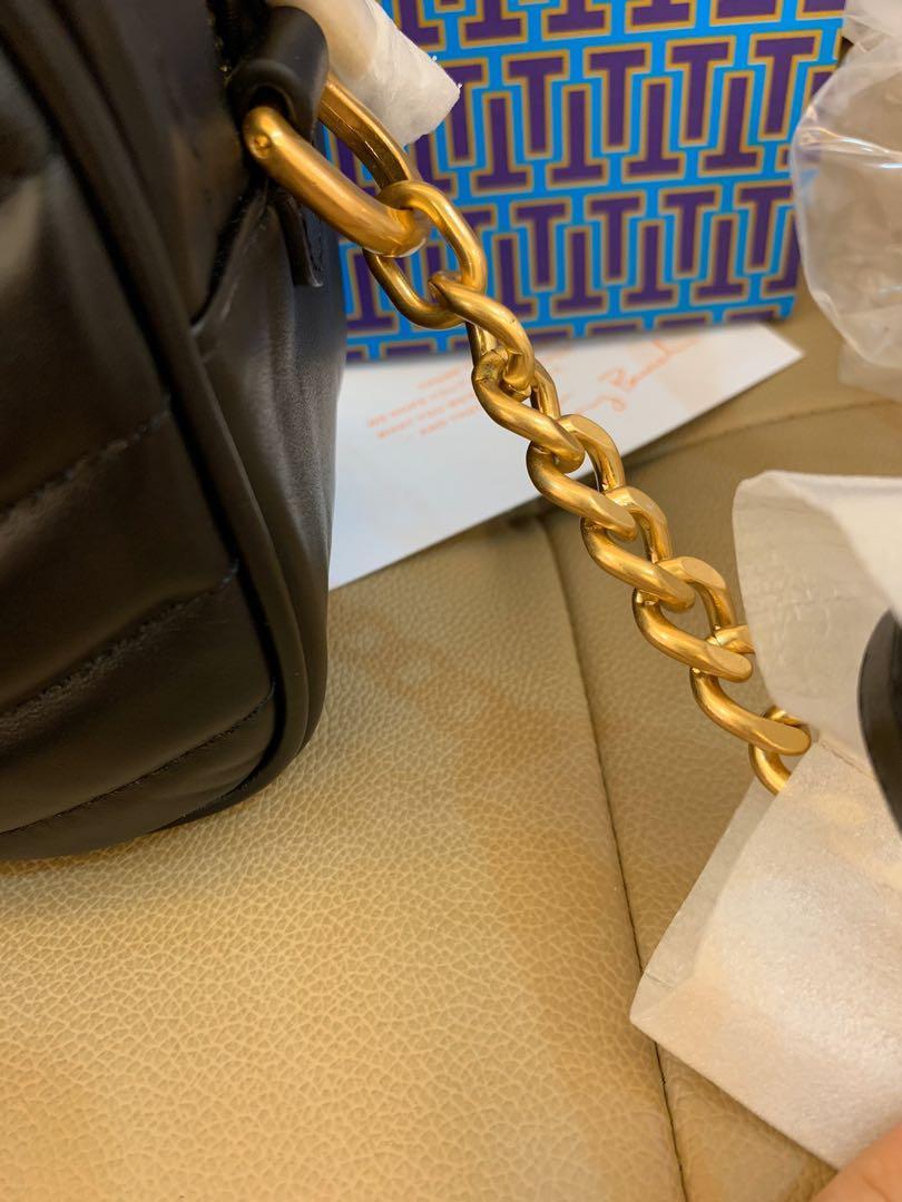 Ready Stock authentic Tory Burch women camera sling bag crossbody in black