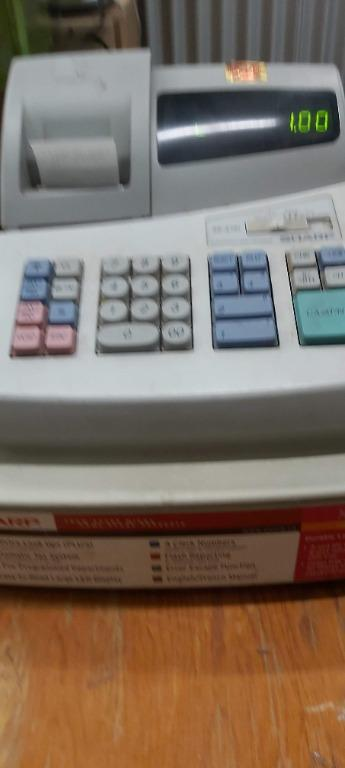 Sharp XE a101 used cash register, excellent working, non-thermal