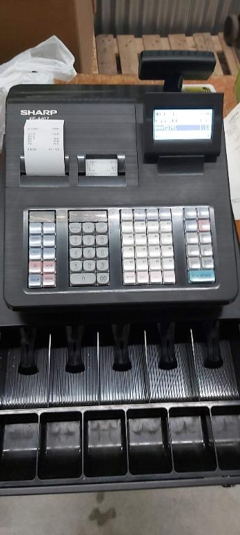 Sharp XE A407 used cash register, twin thermal printer, like new