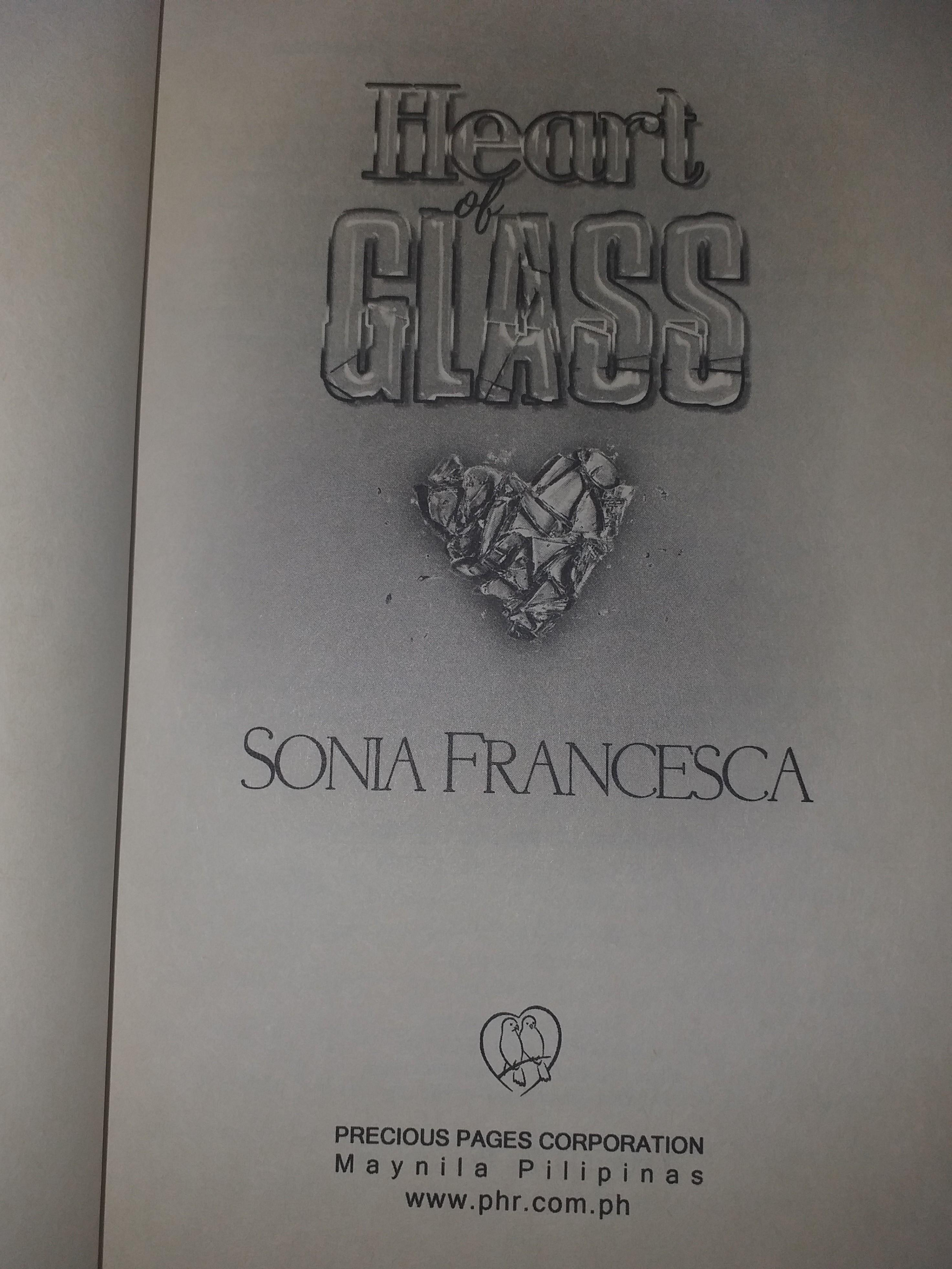 SONIA FRANCESCA'S HEART OF GLASS, LIMITED COLLECTOR'S EDITION FOR SALE!