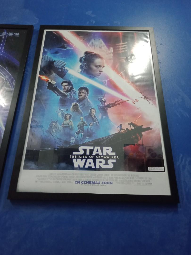Star wars rise of the Skywalker original movie  poster with sticker of authenticity.