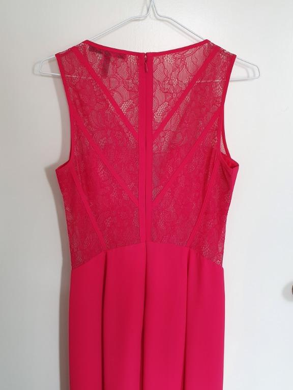 Stunning BCBG Max Azria evening gown with lace cutouts