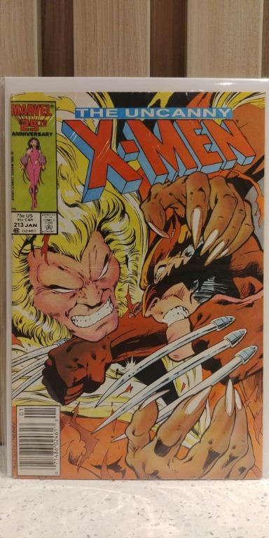 Uncanny X Men (1963 1st Series) # 213 Marvel Comics Published January 1987