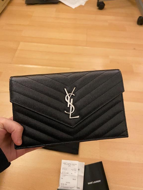 YSL monogram chain wallet (100% AUTHENTIC with Receipt) comes with full set