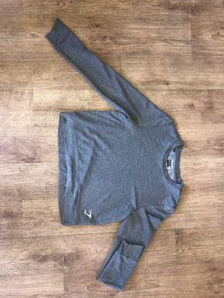 Gymshark Grey Long Sleeve Crop