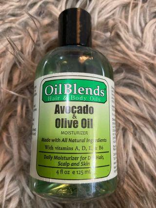 Avocado and olive oil blend skin
