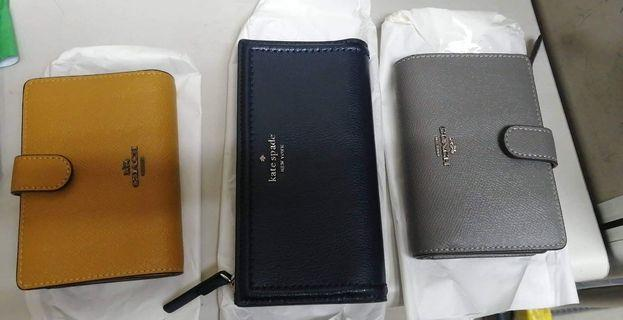 Authentic Coach and Kate Spade Wallets