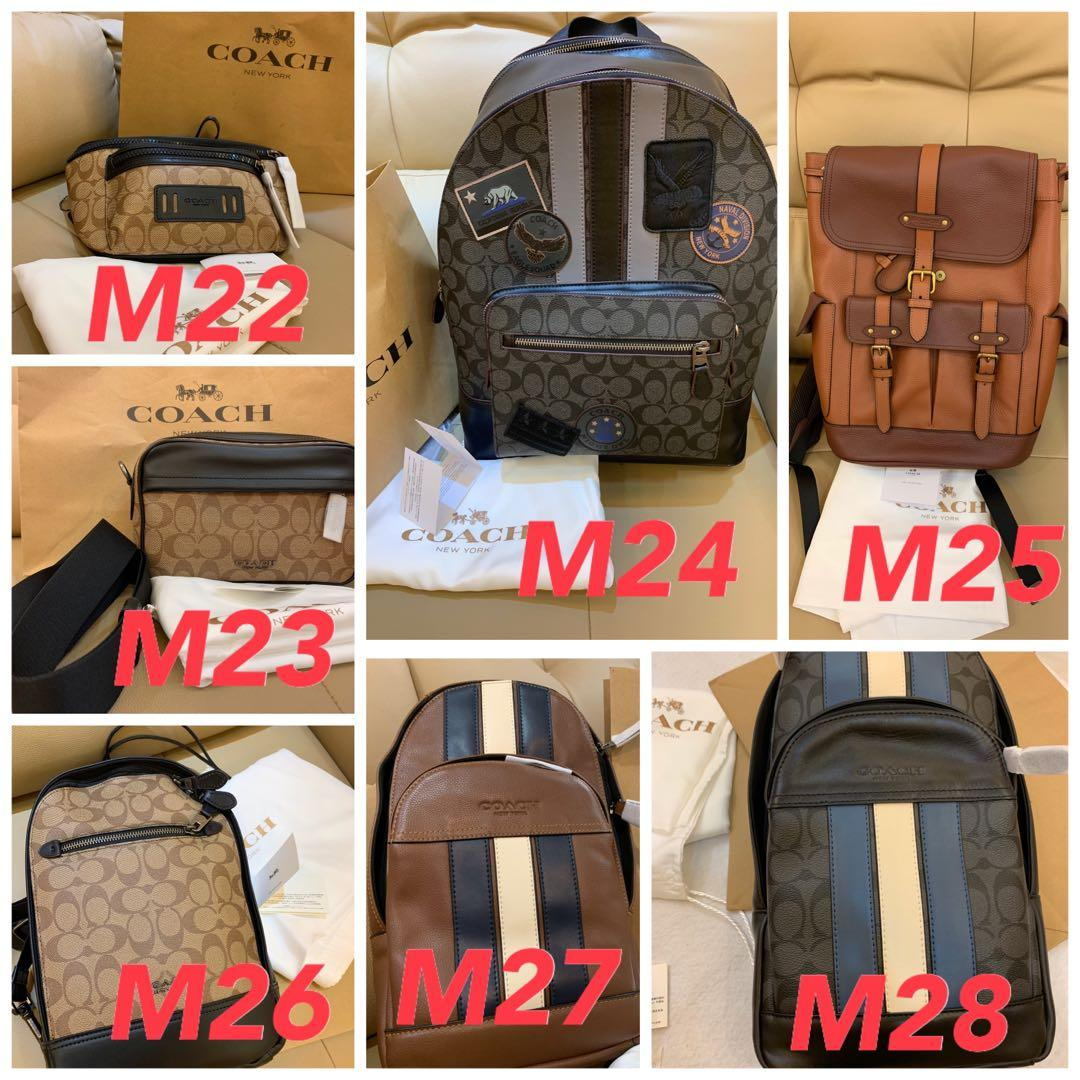 (14/91/20)Ready stock authentic coach men backpack sling bag crossbody wallet purse clutch backpack sling bag belt iPad phone holder clutch hhb