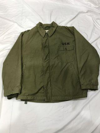 男朋友古著 _ 古著 usn a2 deck jacket 美國海軍甲板外套 xl 保存完整