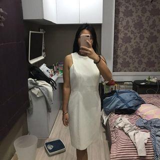 BRAND NEW! WHITE MINI DRESS JUMBO BIG SIZE OVERSIZE HNM BARU!