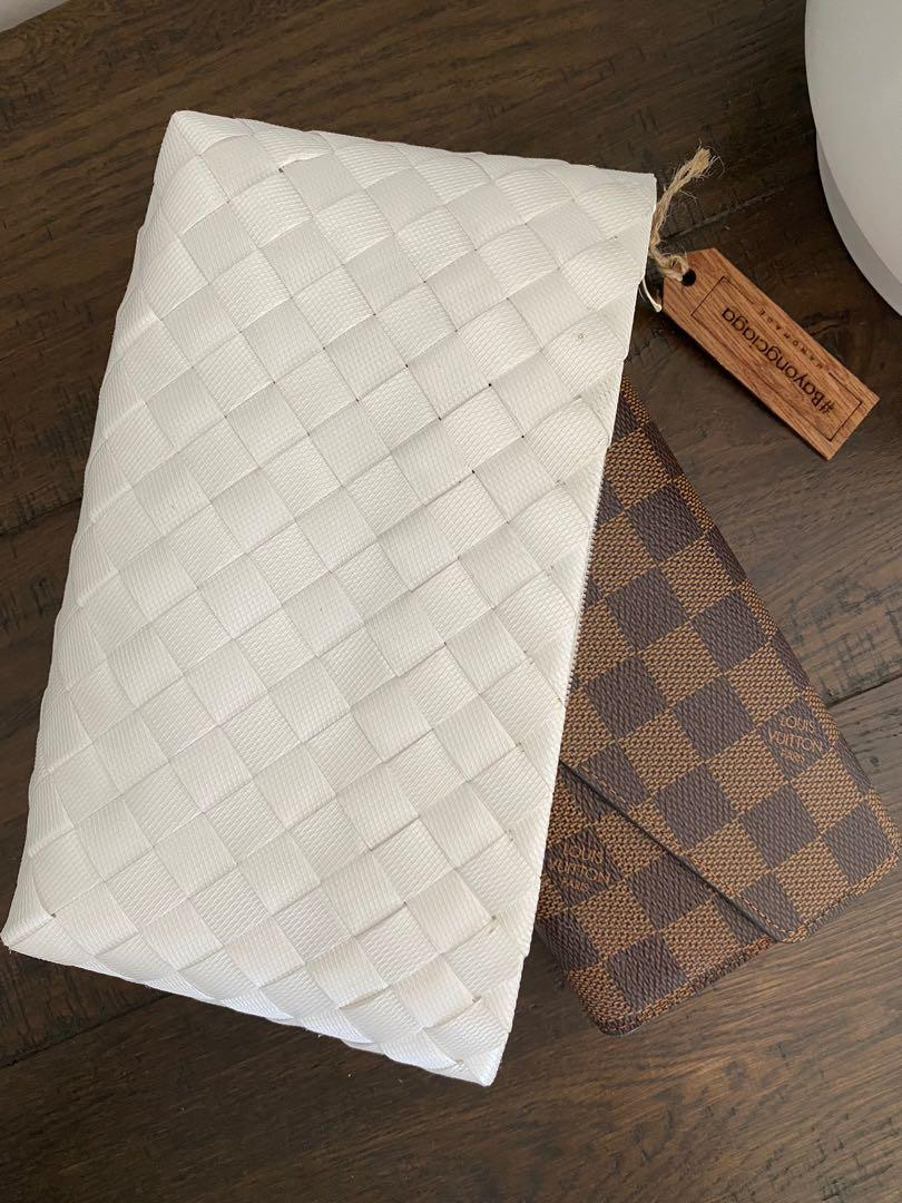 BAYONGciaga Pouch White/Black Luxe, Size 27x13cm approx  (2White, 2Black available)