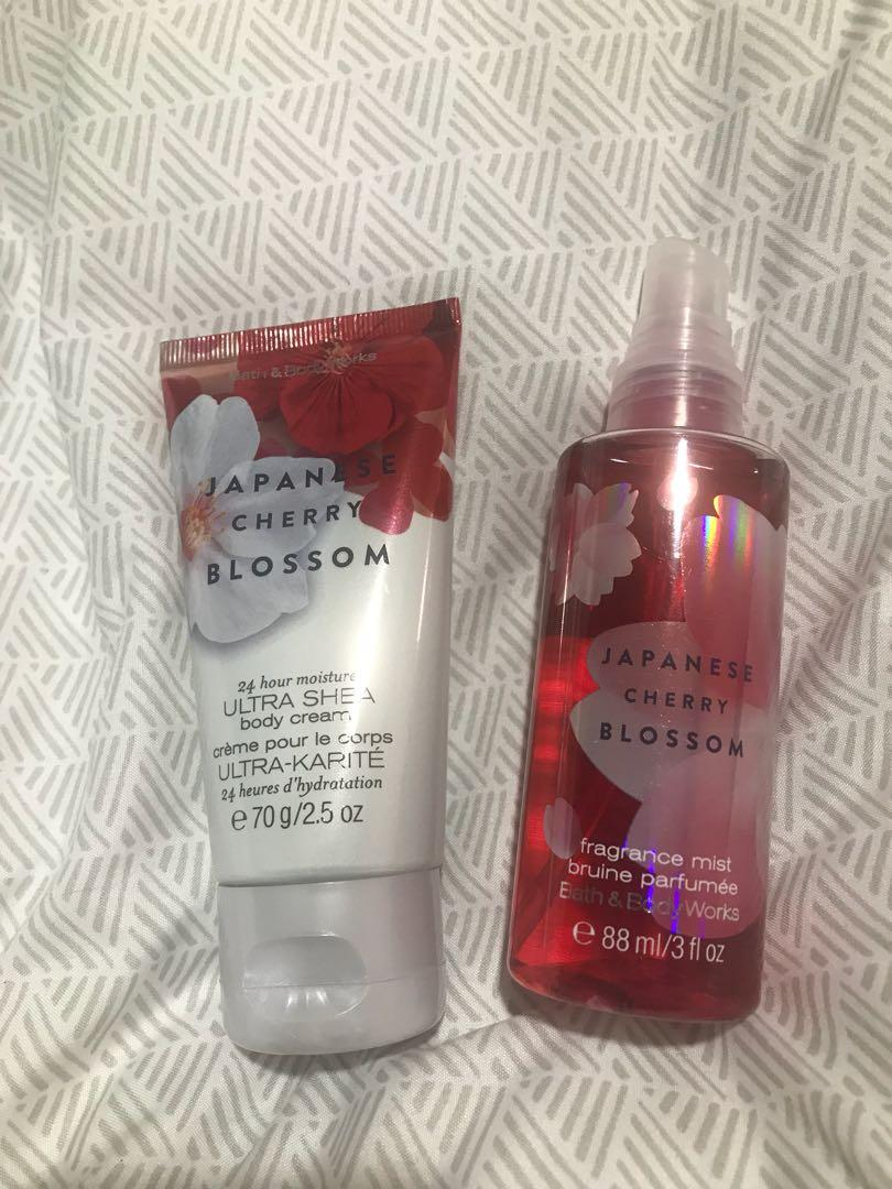 BNWOT- Bath and Body Works Japanese Cherry Blossom products