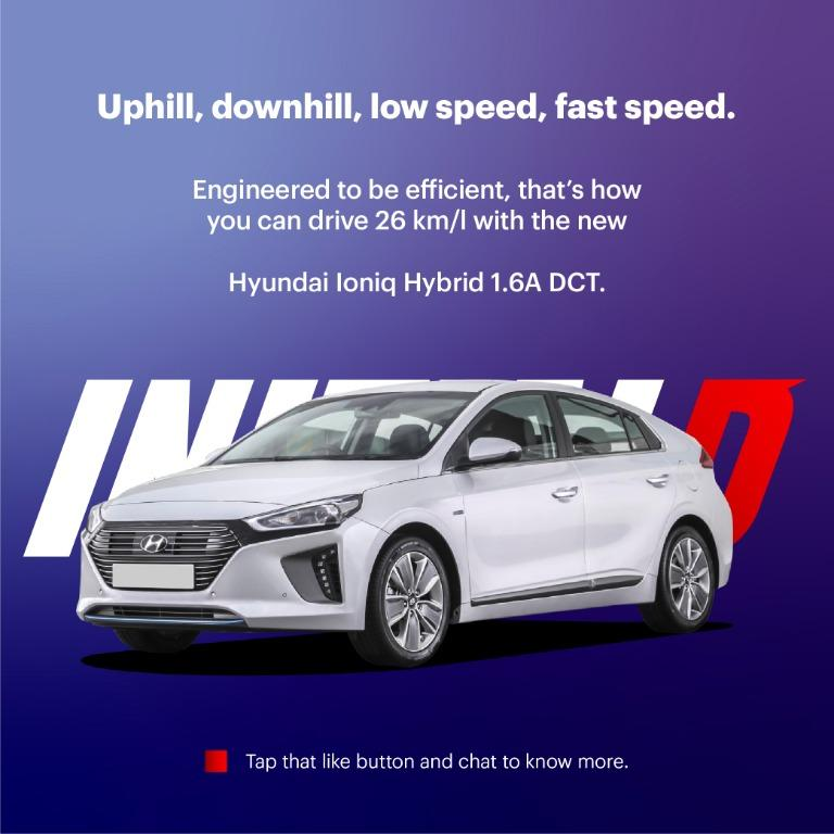 Hyundai Ioniq 2020 Brand New for Car Rent and Grab Rental