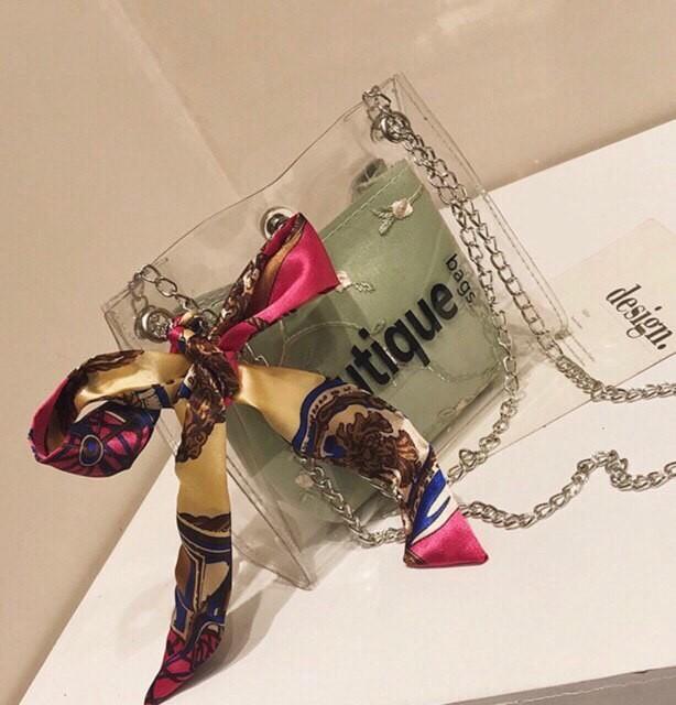 Carlorino Handbag Transparent Woman's Fashion Cross Shoulder Bag (FREE POSTAGE)