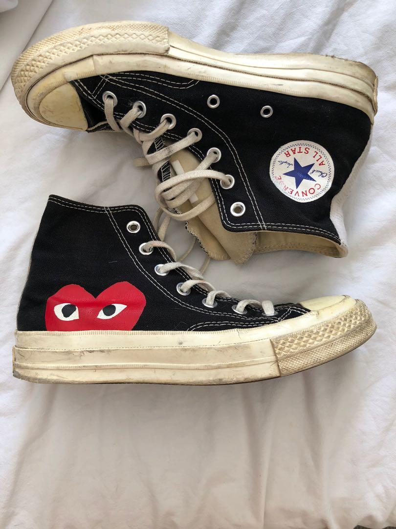 Comme Des Garçons x Converse Black night top large heart