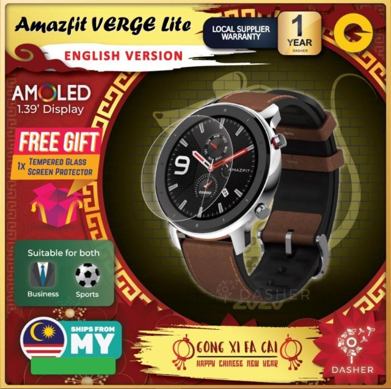 [ENGLISH] Amazfit GTR Smart Watch 42mm with AMOLED Xiaomi Mi Huami Watches