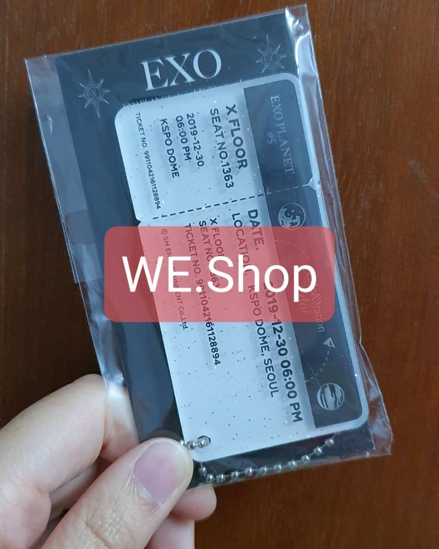 EXO Official Goods from EXplOrationdot - Acrylic Ticket Charm (30th)