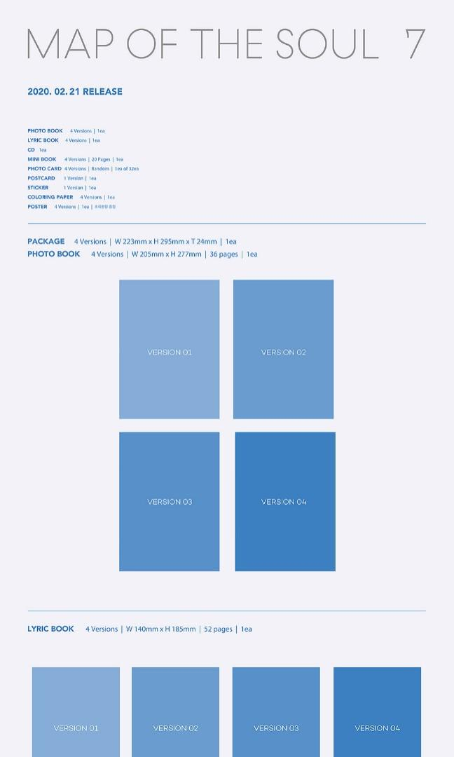 [GO] BTS MAP OF THE SOUL: 7 (UNSEALED WITHOUT PC & POSTERS)