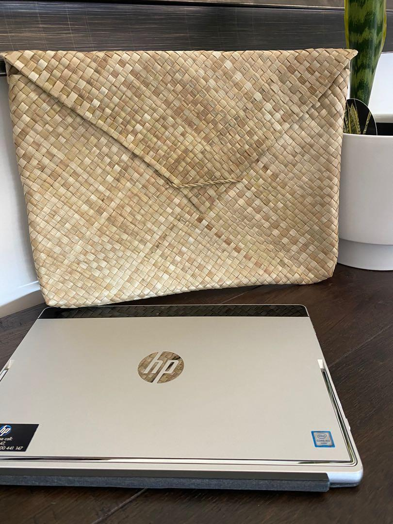 Hand Woven Laptop Envelope made of palm leaves. 5 pieces available.