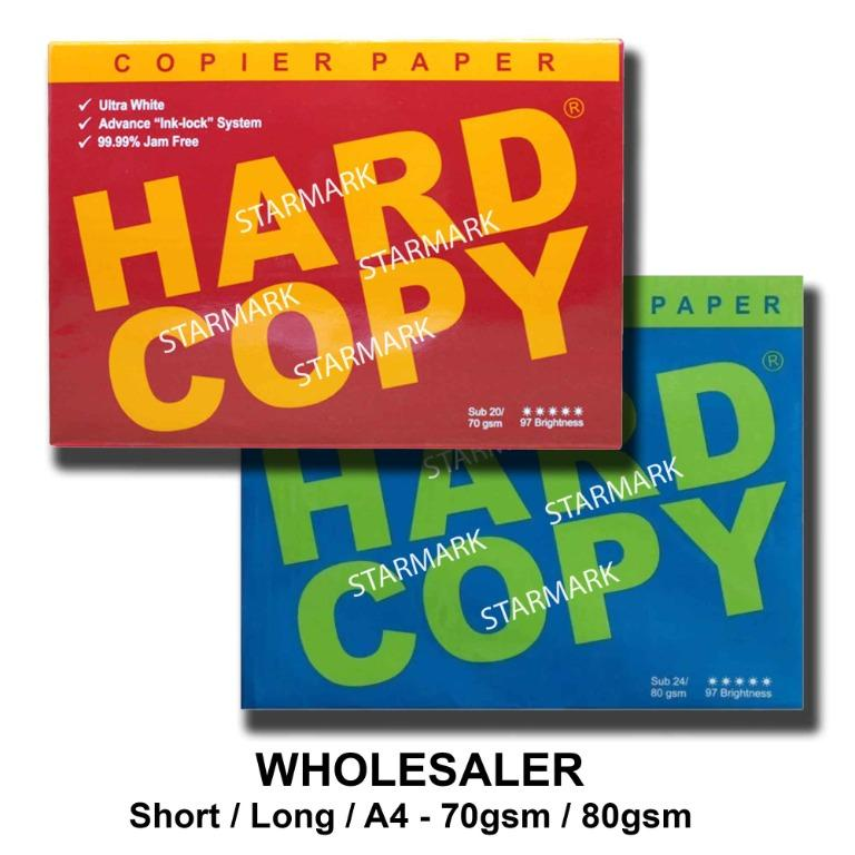 Hard Copy Bond Papers Short Long A4 70gsm 80gsm Wholesale and Retail Wholesaler