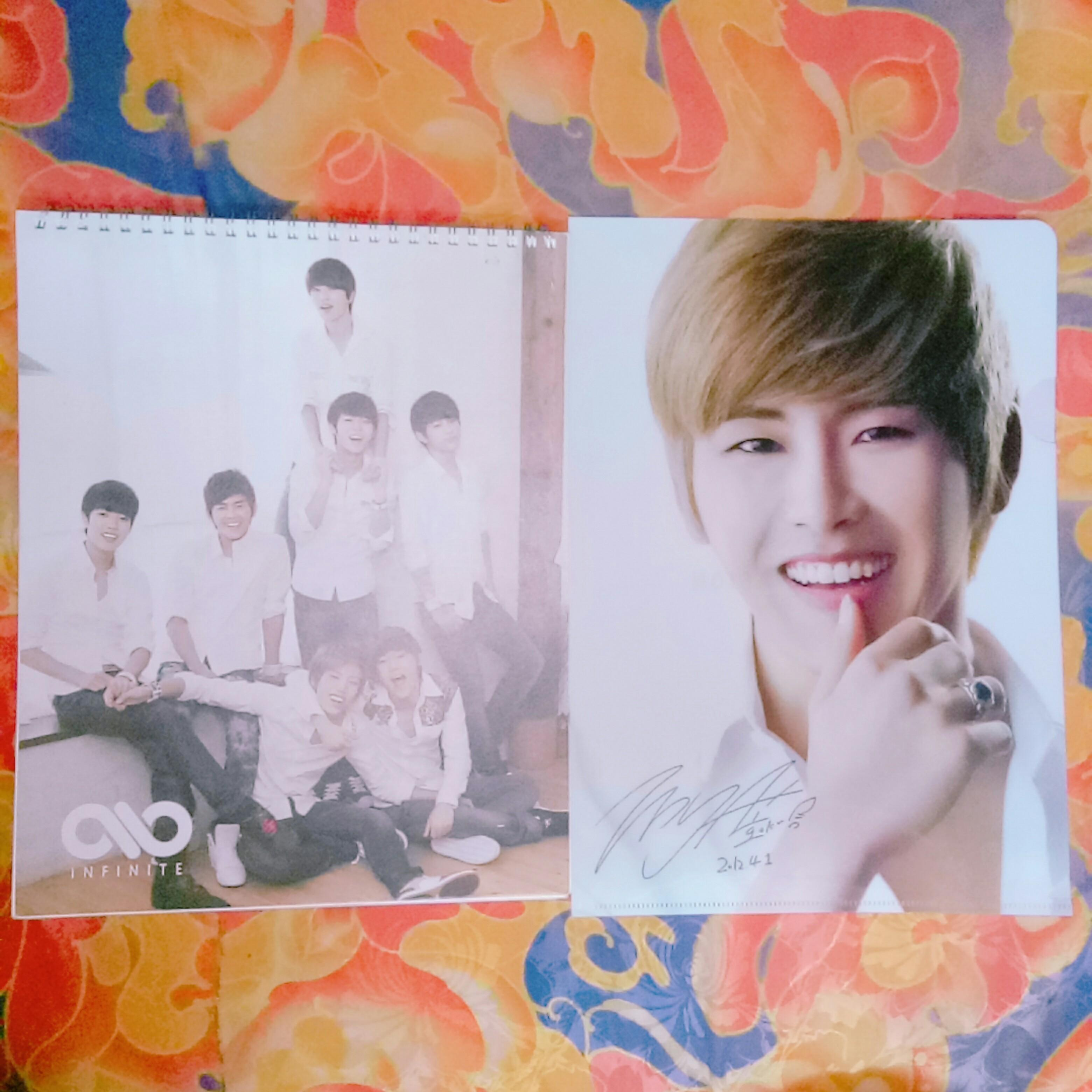 Infinite Season Greeting OFFICIAL 2012 Calendar, Hoya Second Invasion Evolution Official A4 clearfile autograph