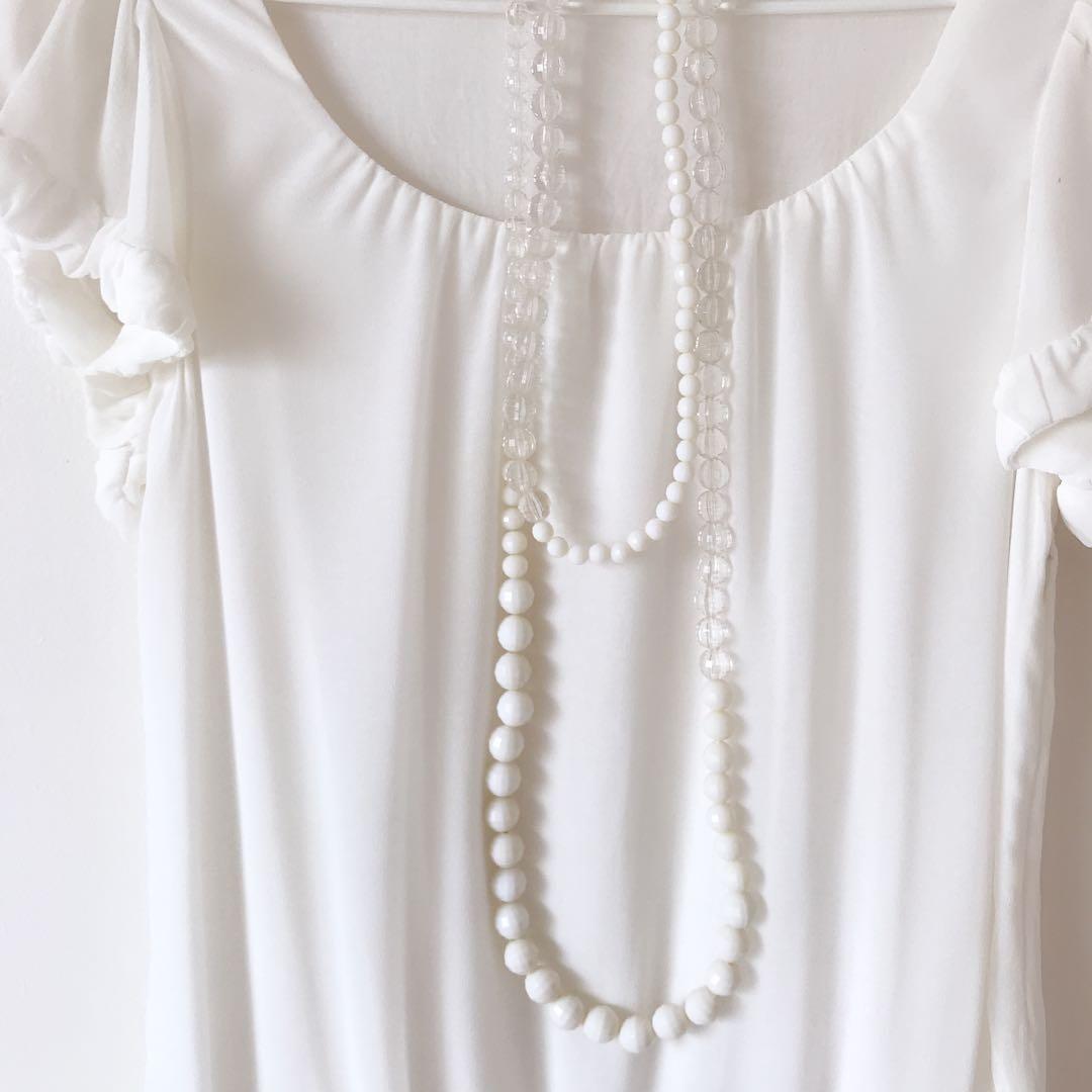ITTIERRE ITALY mini dress plus matching necklace size XS