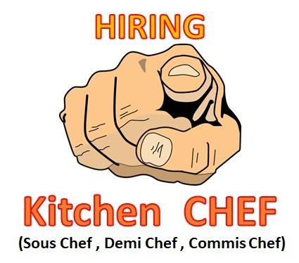 Kitchen Chef (Sous Chef , Demi Chef , Commis Chef)