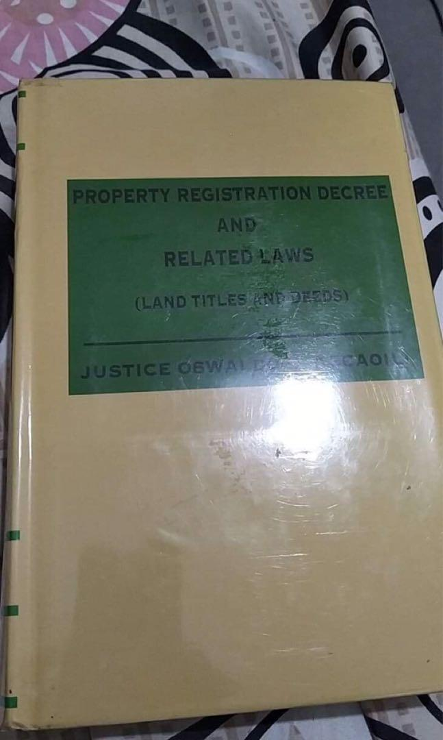Land, titles and deeds by agcaoili ( property registration decree and other related laws)