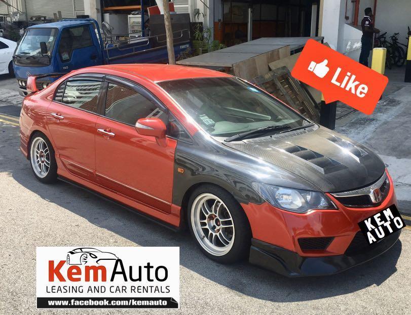 Loud Sporty modded Manual JDM cars Honda Civic integra Mitsubishi Lancer glx Colt R avail for rental