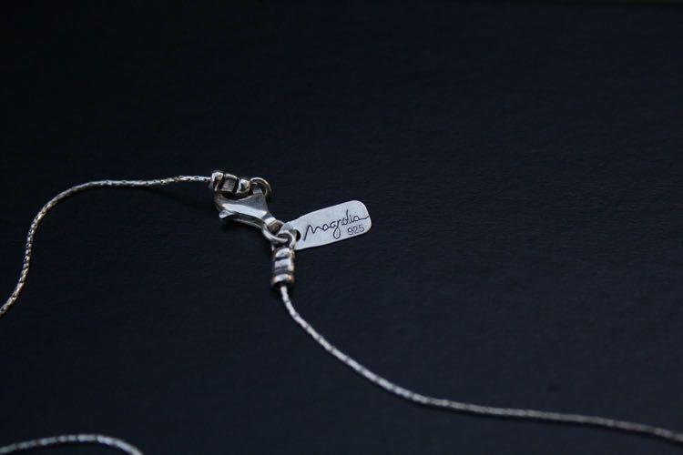 Magnolia Hammered Silver Heart-shape Pendant Necklace