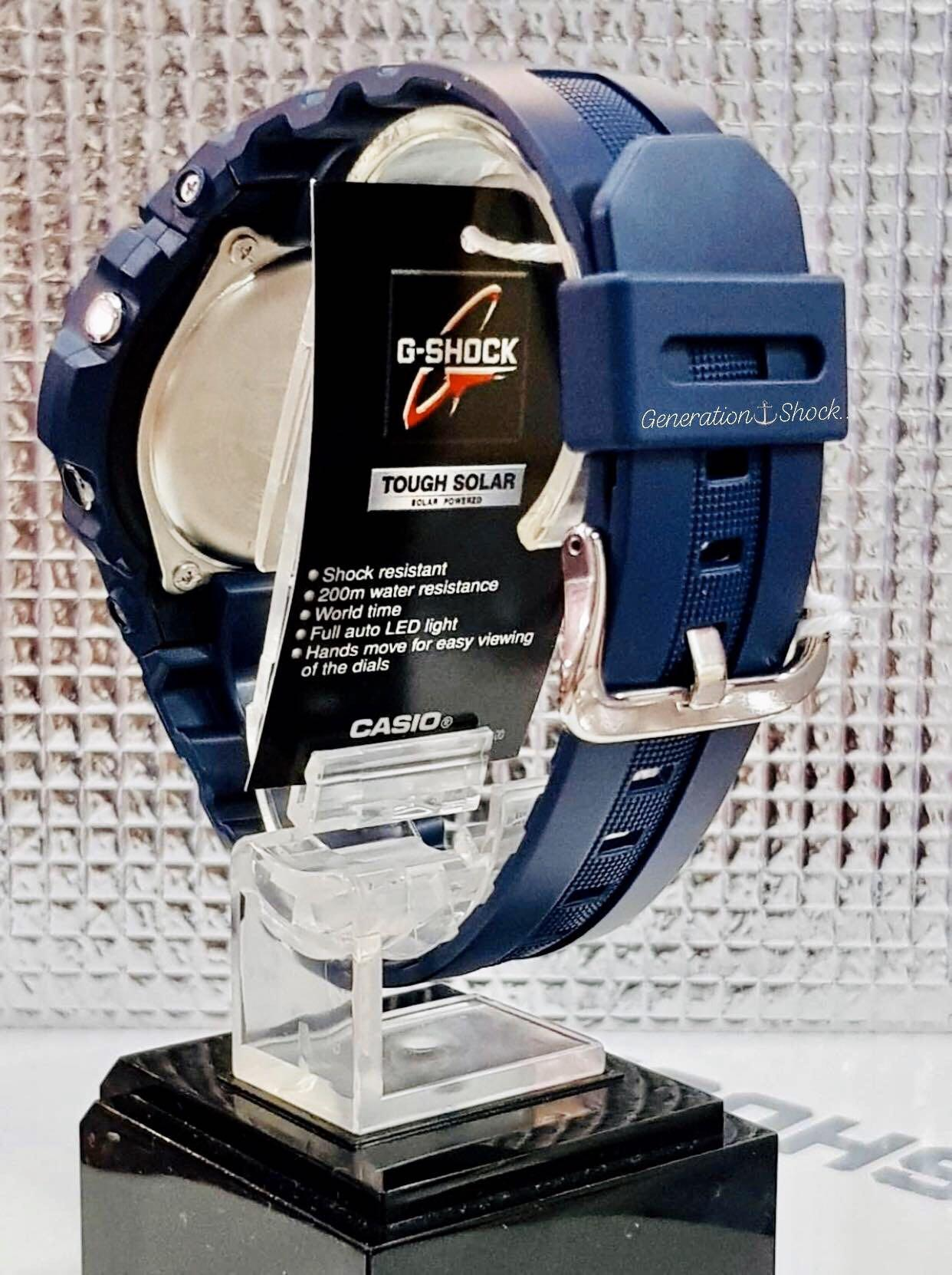 NEW🌟TOUGH☀️SOLAR : GSHOCK DIVER UNISEX SPORTS WATCH : 100% ORIGINAL AUTHENTIC CASIO G-SHOCK : AWR-M100SNR-2A / AWRM100SNR-2A (ROYAL BLUE ROSE-GOLD)