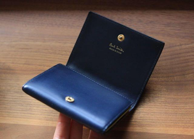 Paul Smith Ladies Card Holder Wallet in Navy Calf Leather