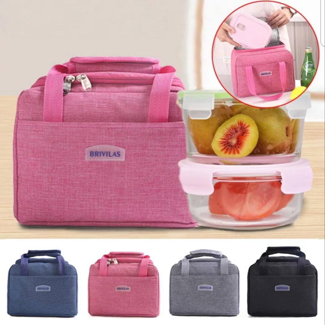 TB 445 Portable Lunch Bag New Thermal Insulated Lunch Box Tote Cooler Handbag Bento Pouch Dinner Container School Food Storage Bags
