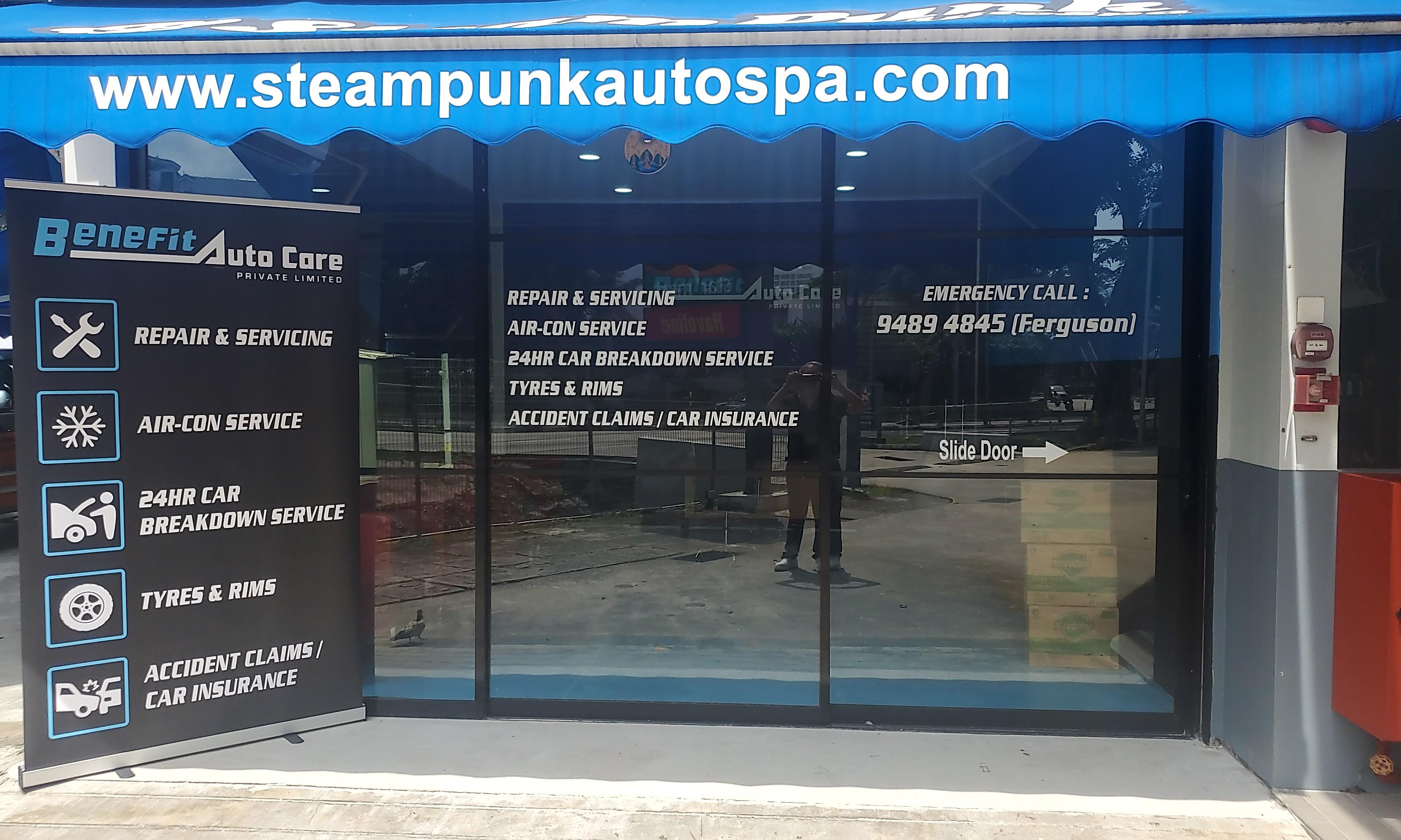 vehicle car service maintenance ( included car washing and vacuum ) 930am to 830 pm