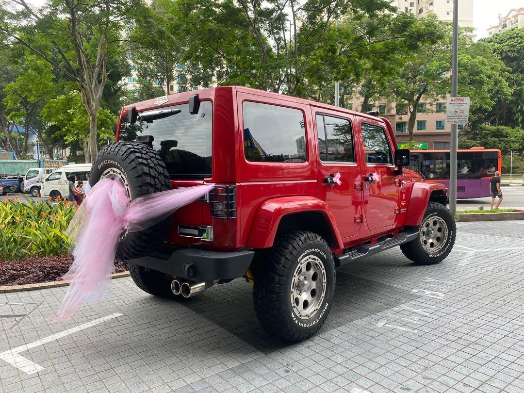 Wedding Car Rental Jeep Wrangler Off-road Vehicle