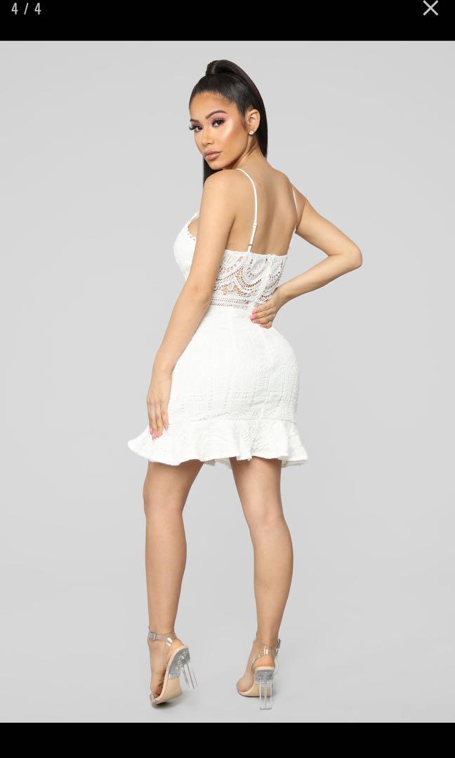 White XS Fashion Nova Crochet Spring & Summer Dress