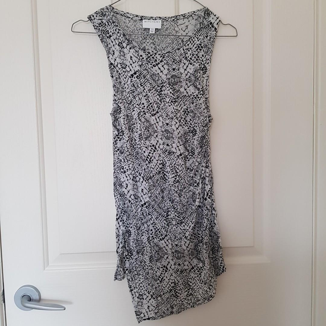 Witchery Snakeprint Tank Top Size XXS (fits 4-8 comfortably)