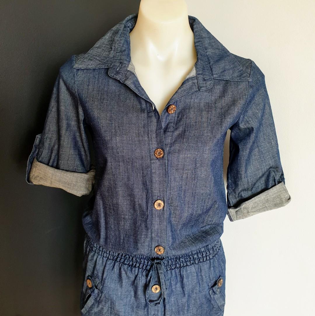Women's size 6 'WISH' Gorgeous 'Field  of Drea' chambray shirt dress - AS NEW
