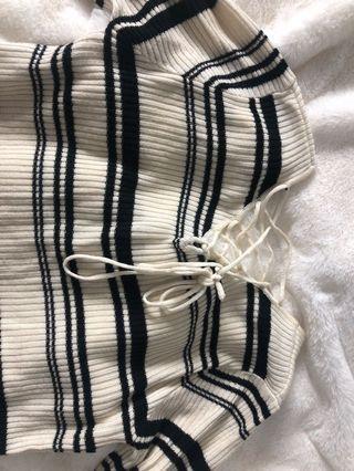 Black and white stripe sweater