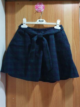 私物🌸秋冬毛呢蘇格蘭短裙(內有安全褲)