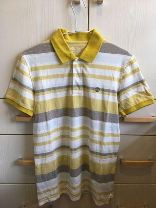Timberland  亮黃色polo衫(男版S)