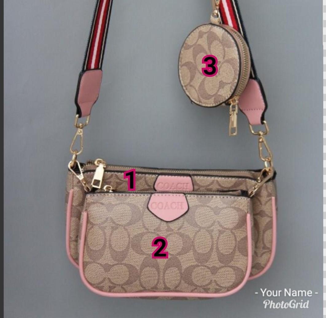 3in1 Coach multi pochette accessories sling bag, Women's Fashion ...