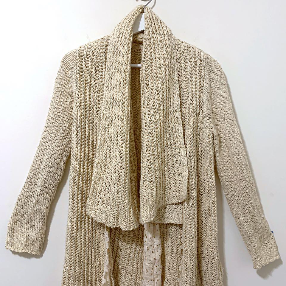 Anthropologie Knitted & Knotted Waterfall Cardigan - Size XS