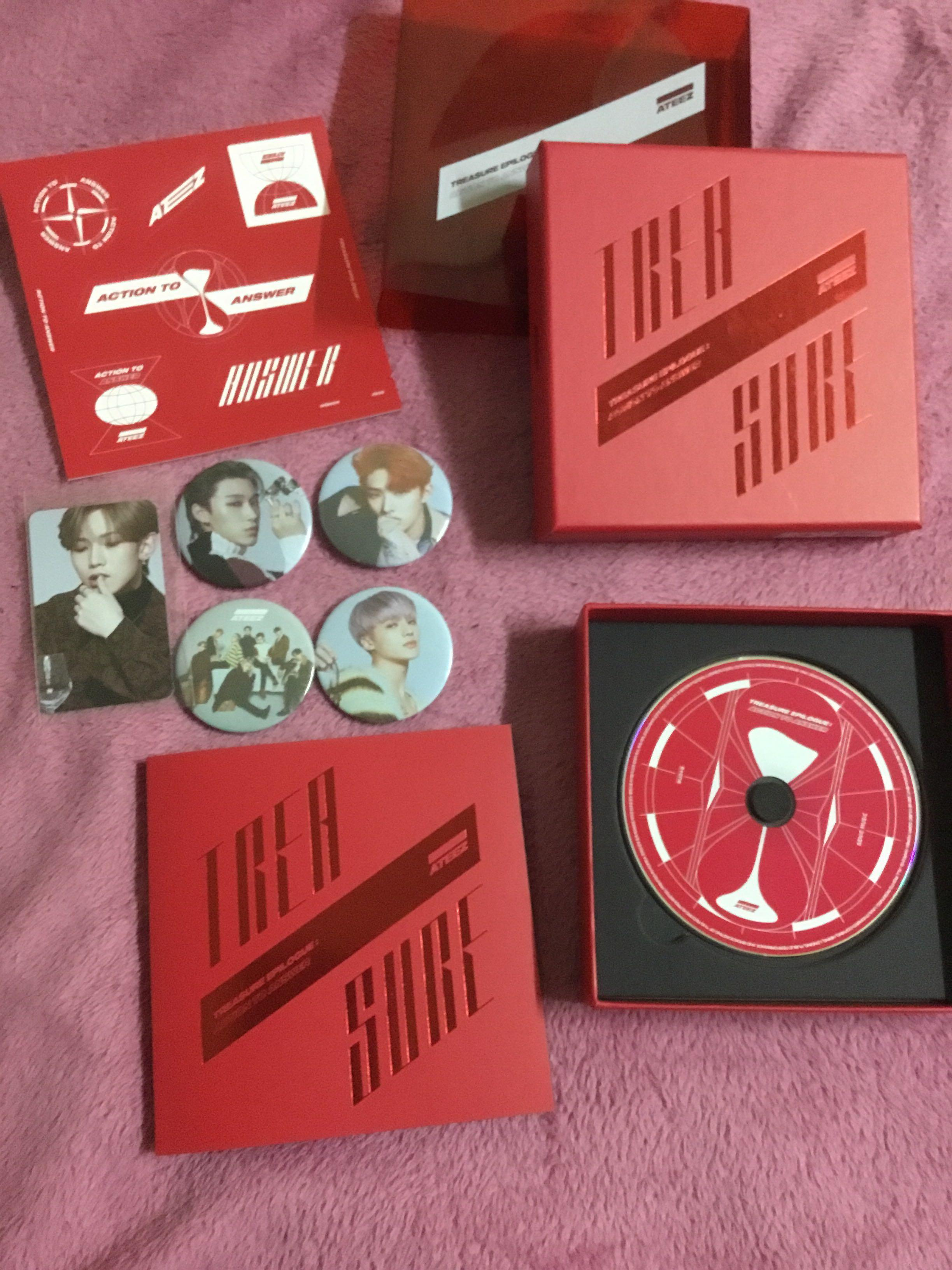 ATEEZ Epilogue Treasure Action To Answer Album (Red)